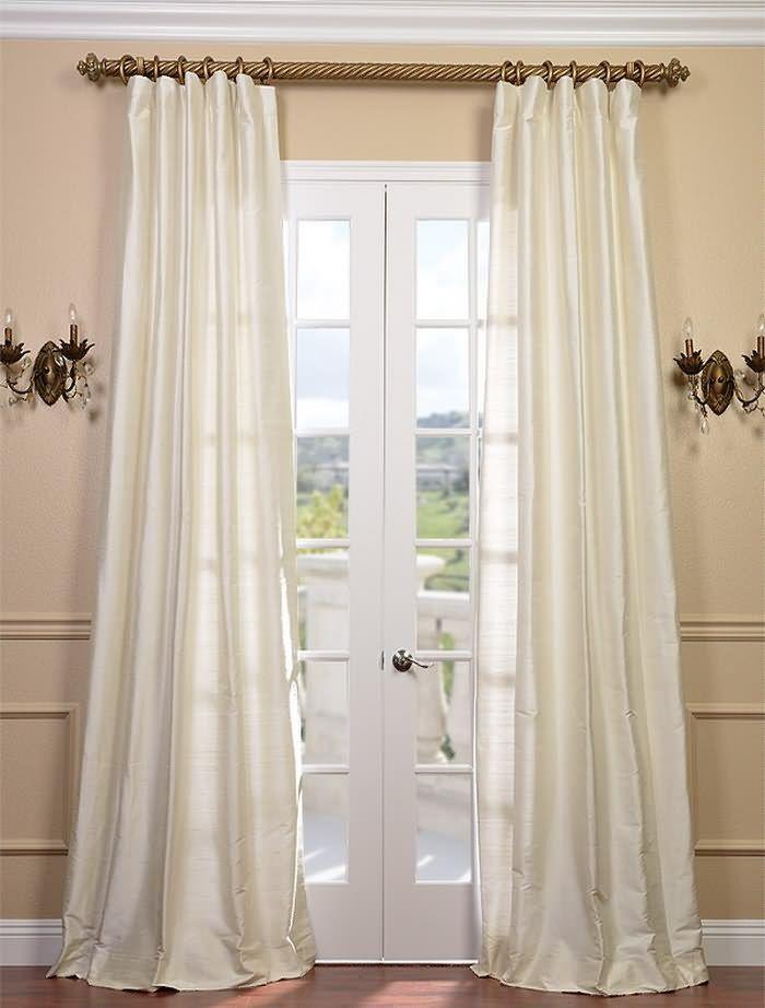 pearl textured dupioni silk curtain drapes pinterest