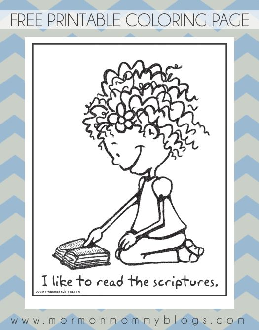 like to read the scriptures coloring page mormon mommy printables