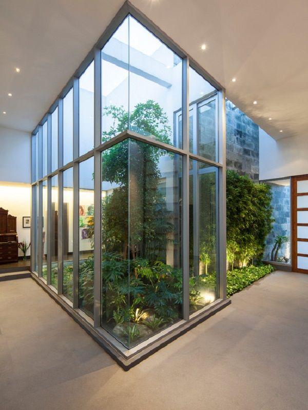 Modern indoor patio atriums decor bird rooms pinterest - Indoor patio decorating ideas ...