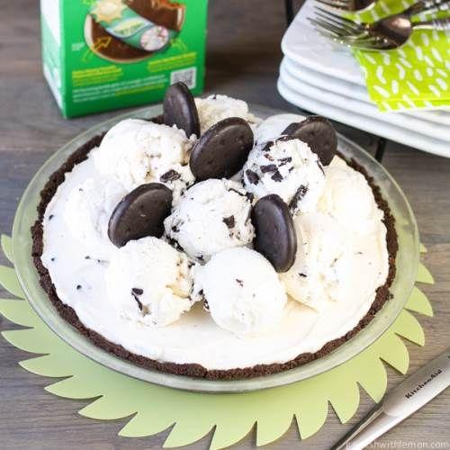 Thin Mint Chocolate Chip Ice Cream Pie | Pies & tarts | Pinterest