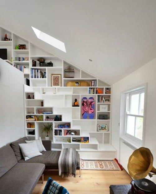 Escalera librero escaleras pinterest for Librero escalera