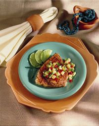 Grilled Swordfish with Pineapple Salsa Photo