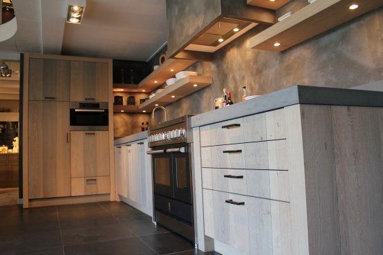 Keuken Eiken Fineer : Keuken gemaakt uit eiken fineer. Door: Harold Lenssen, maatwerk in