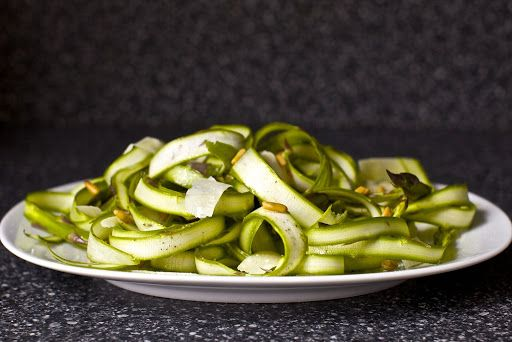 Ribbony Asparagus Salad with Lemon and Parmesan Recipe on Yummly