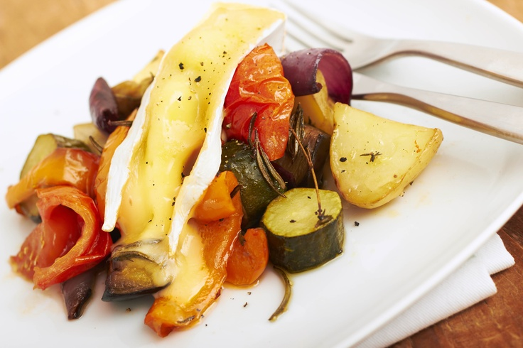 Roast Mediterranean Vegetables with Melting Somerset Brie