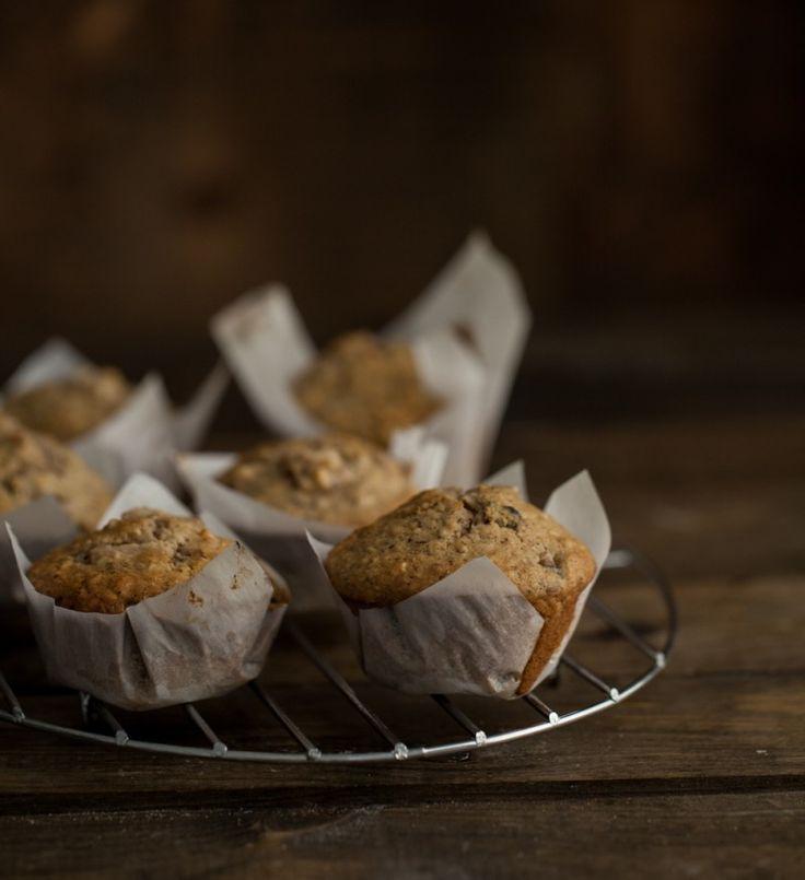 "Hazelnut Pear Muffins (sub chia or flax ""egg"", sub apple or pear sa..."