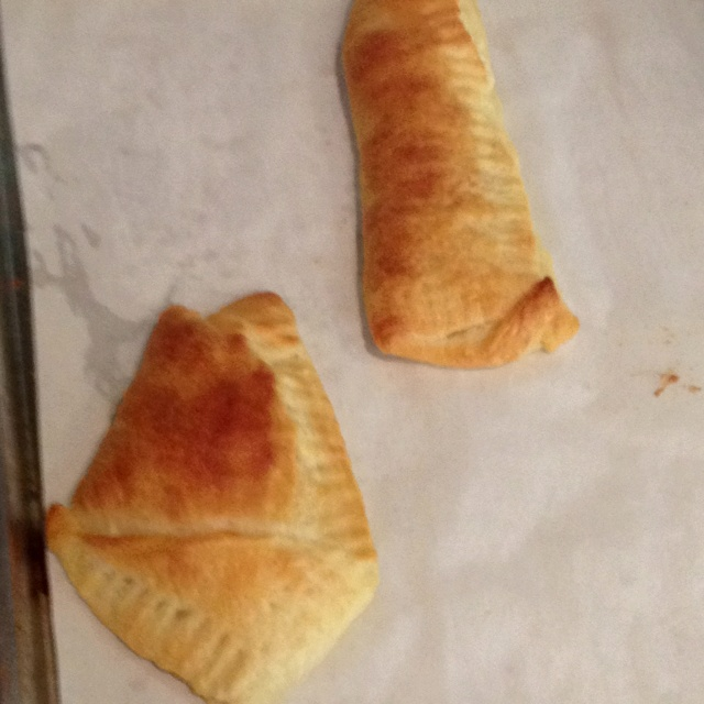 made the peanut butter croissant things. I folded then and sealed ...
