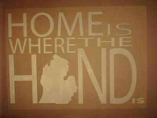 Home is where the hand is...