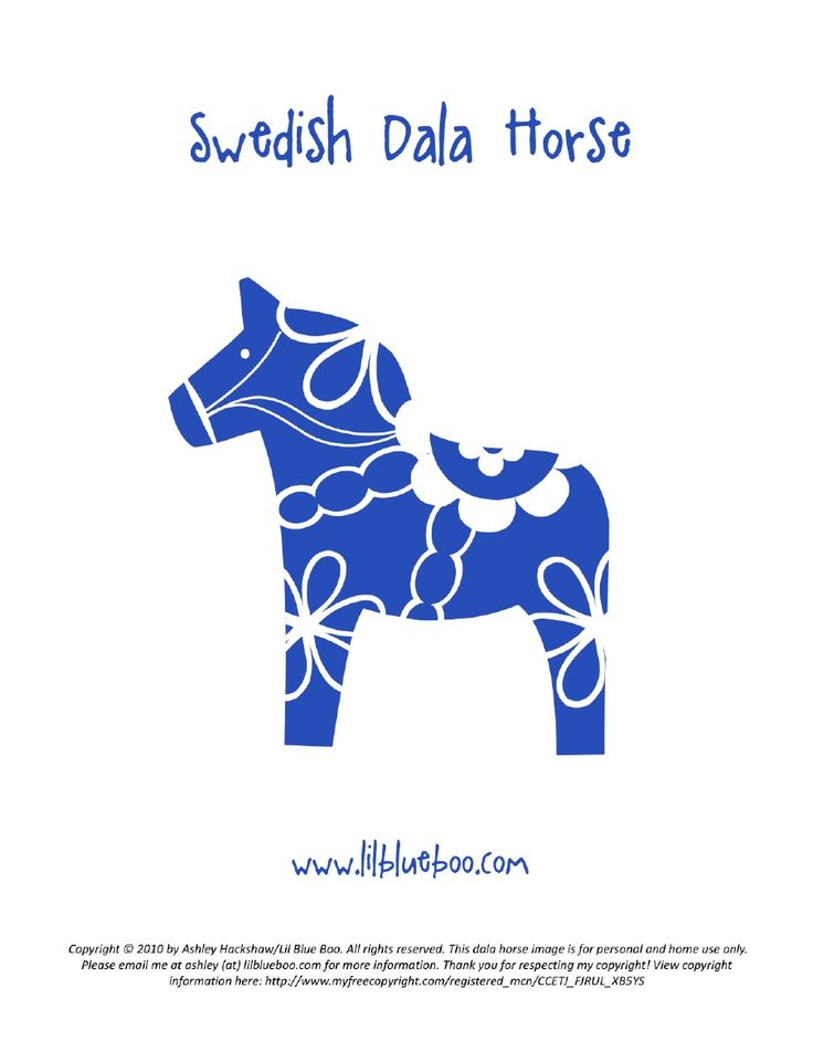 free dala horse coloring pages - photo#35