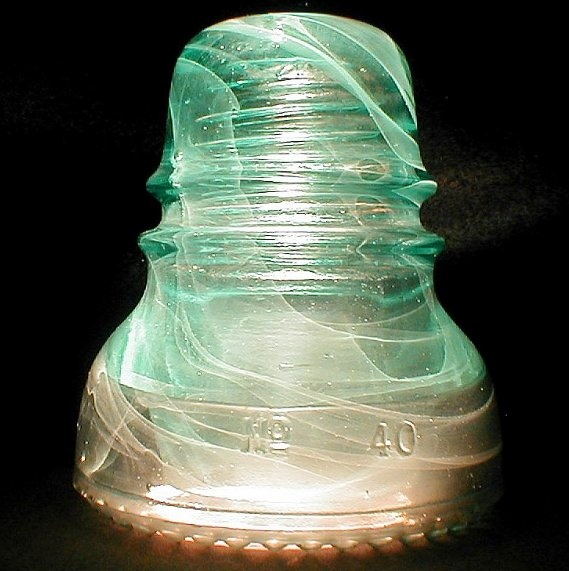 Hemingray No 40 antique glass insulator