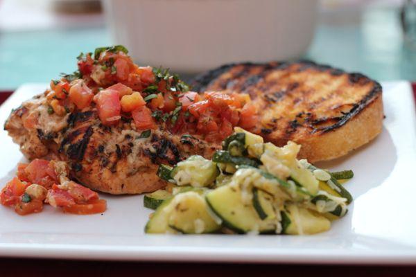 Grilled chicken bruschetta | Dinner & Lunch Recipes | Pinterest