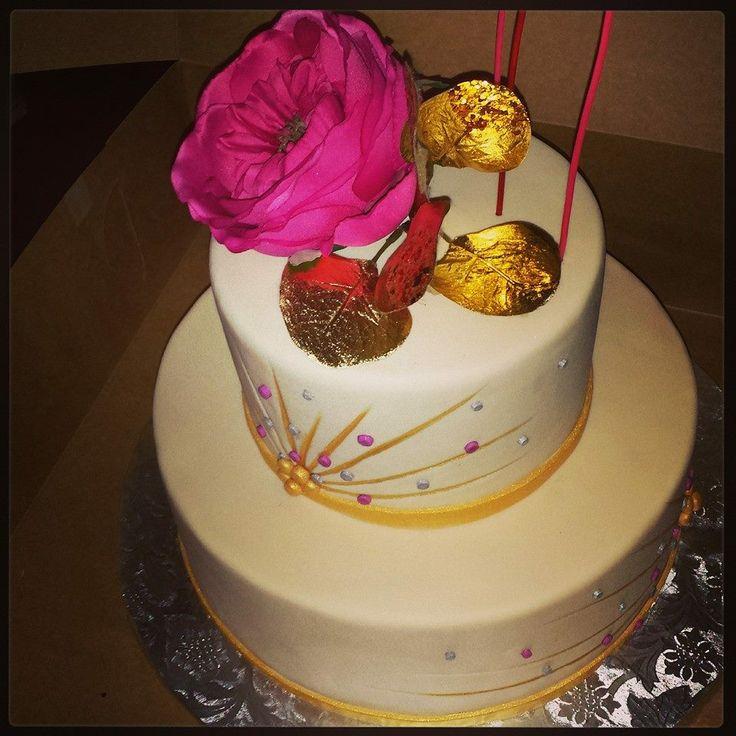 glamorous birthday cake
