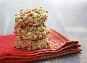 Strawberry & Apple Whole Wheat Cookies! Instead of applesauce or oil I used strawberry puree. YUM!!!