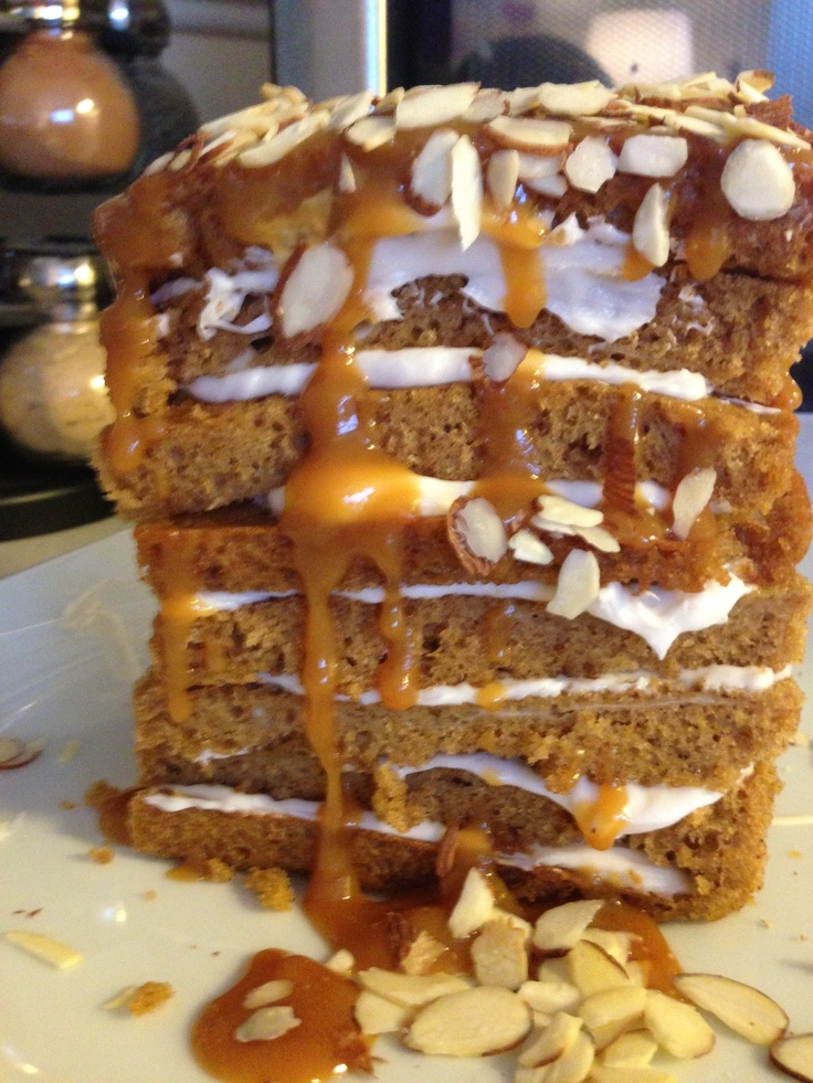 layer, homemade pumpkin caramel cake with cream cheese frosting ...