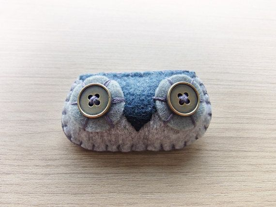 Felt owl Brooch  Cute Kawaii brooch  brooch  Owl by WELOVESTITCHES, $15.00