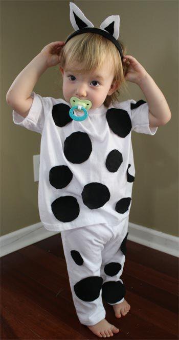 dalmatian-costume: cut circles from black felt. ... | Halloween cost ...
