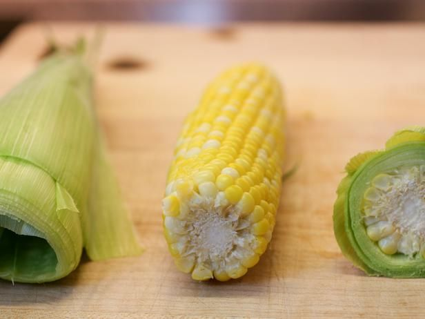 Microwave your corn on the cob in the husk for 3 4 min cut off the