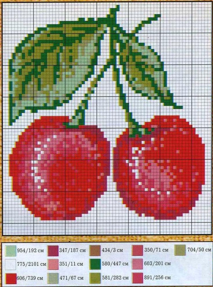 Схемы для вышивки крестиком фрукты 96
