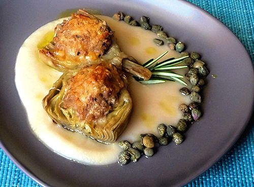 Stuffed artichokes, Italian home cooking, authetic Italian artichoke ...