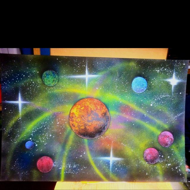 Spray Paint Space Art Art Paintings Pinterest