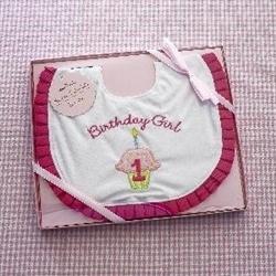 Hallmark First Birthday Girl Bib