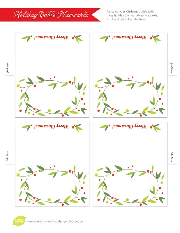 free place card template - free printable christmas place cards template search