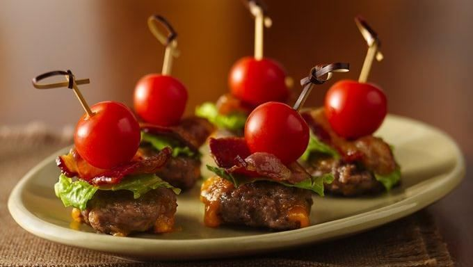 CHEESY BACON BURGER BITES-Looking for savory appetizers made using ...