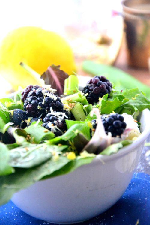 blackberry-salad-recipe   Food!!   Pinterest