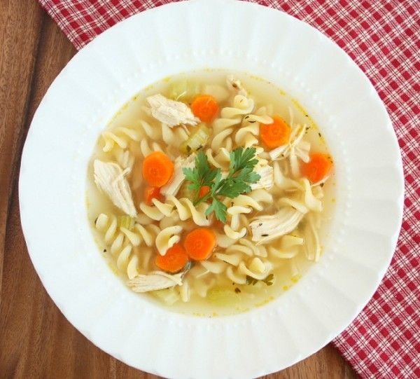 Chicken Noodle Soup, make with heart carrots for sick loved one