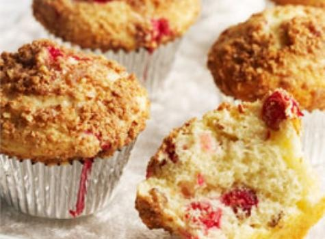 Cranberry Pecan Muffins with Streusel Topping