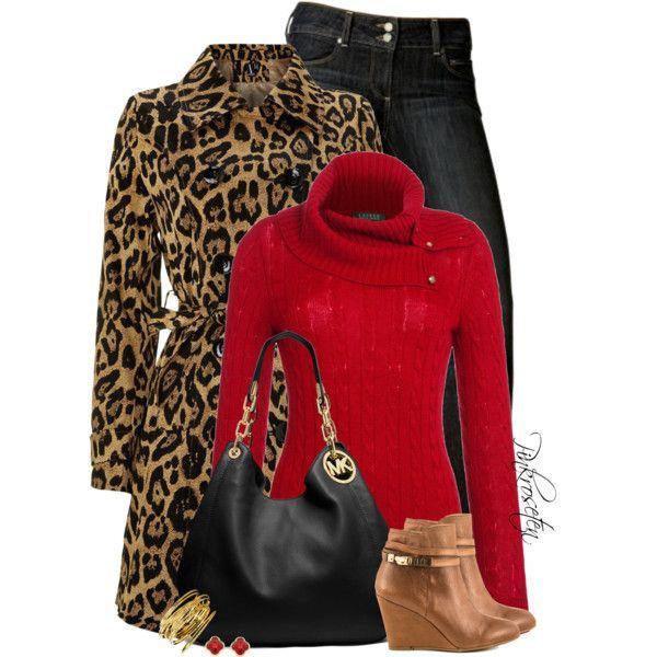"""""""Leopard Coat!"""" by pinkroseten on Polyvore"""