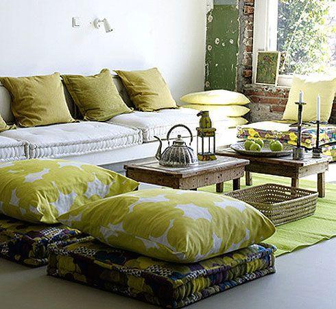 Boho Style Floor Pillows : Bohemian-Style-Floor-Cushions Basement Pinterest