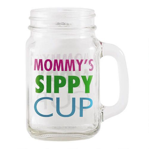 """Sassy Glass """"Mommy's Sippy Cup""""   For the Home   Pinterest"""