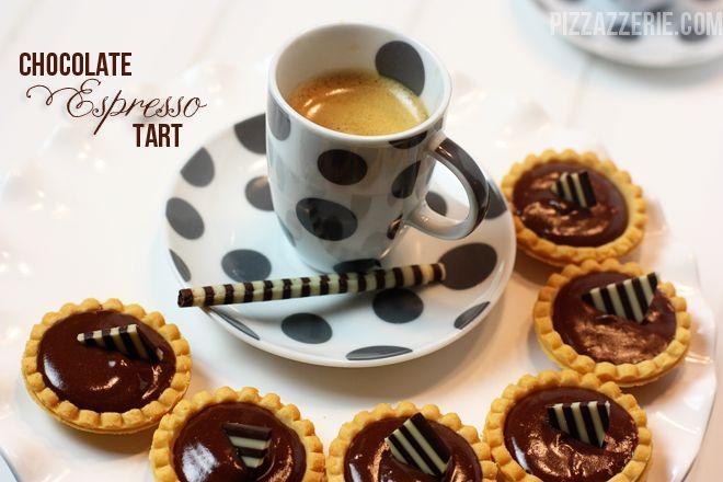 Recipe} Chocolate Espresso Ganache Tarts! on http://pizzazzerie.com