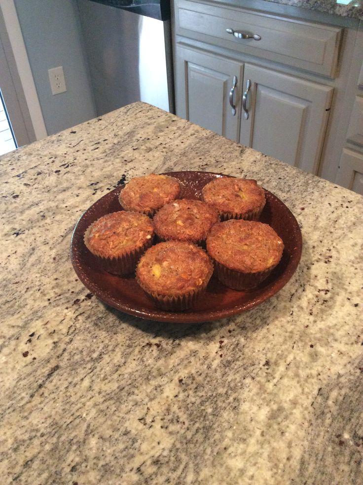 Gluten free oatmeal peach muffins. | Buttercup recipes | Pinterest