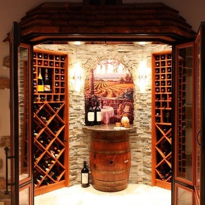 Pin by myla ramsey on wine rooms pinterest - Wine room decorating ideas ...