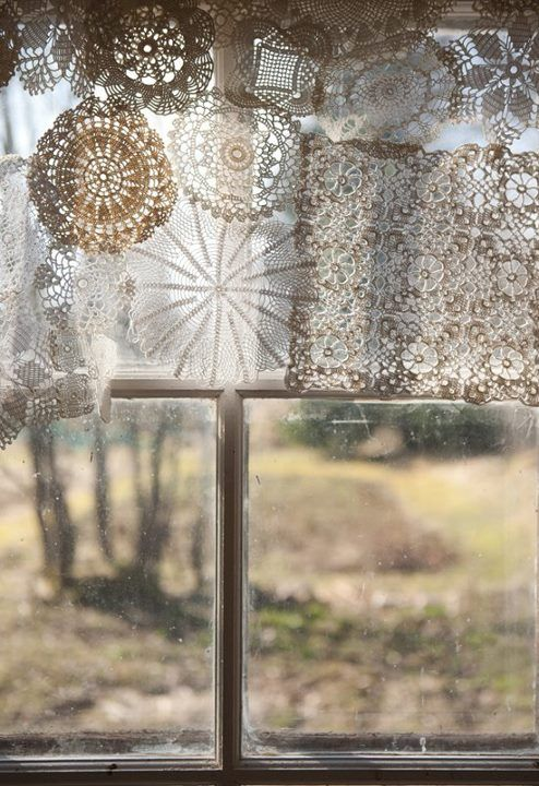 Totally me! ...lace lace lace #Vintage, #Handmade, #Doilie, #Natural