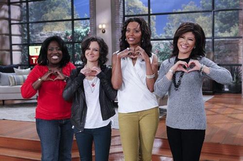 "1/26 TheTalk misses Mrs.O! Julie, Aisha, Sara & Sheryl send their ""hearts"" to you Sharon!"