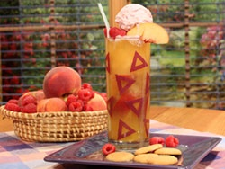 This refreshing Peach Melba Cooler will quench even the biggest summer ...