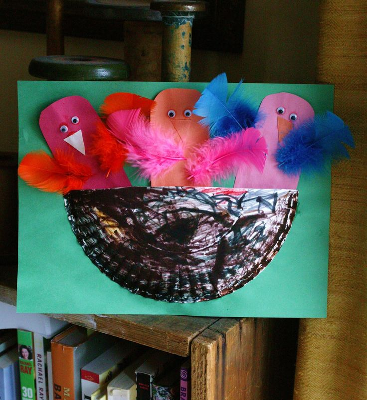 Birds in a nest easy crafts for preschoolers pinterest for Baby bird nest craft