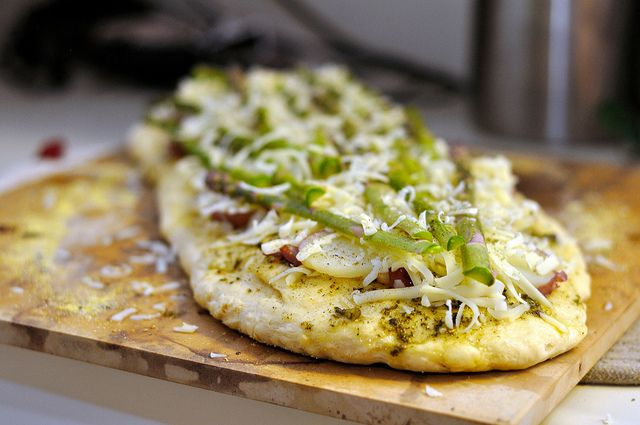Asparagus, Red Potato and Carmelized Onion Pizza by Kohler Created ...