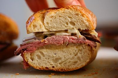 Roast Beef Baguettes With Cider Onion Jam And Fennel Remoulade Recipes ...