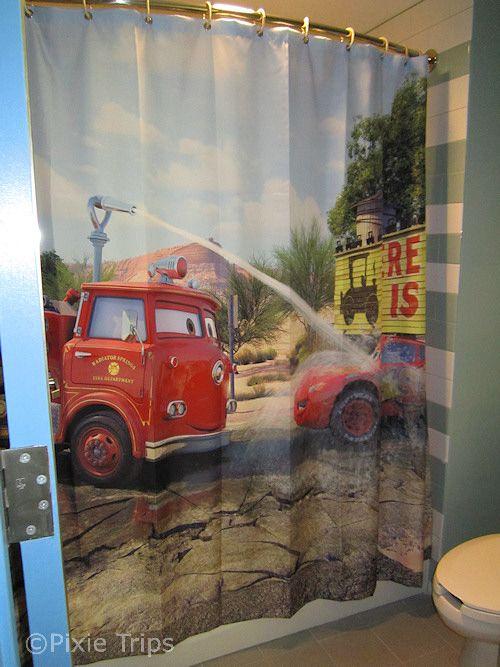 Art of Animation Cars Family Suite. Bathroom Shower Curtain. So cute ...