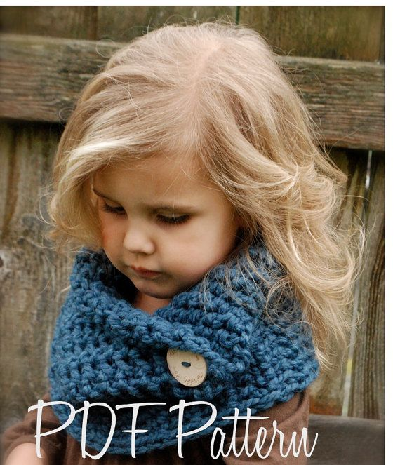 Crochet PATTERNThe Tuscyn Cowl Child Adult sizes by Thevelvetacorn, 5.50