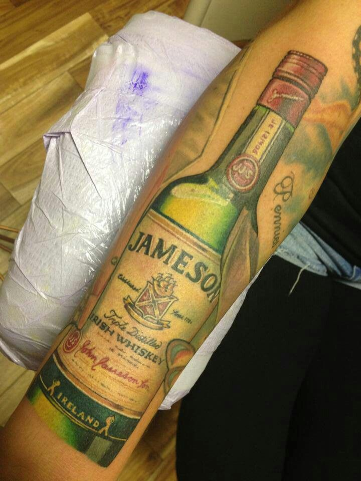 Jameson whiskey Irish tattoo | Tattoos | Pinterest