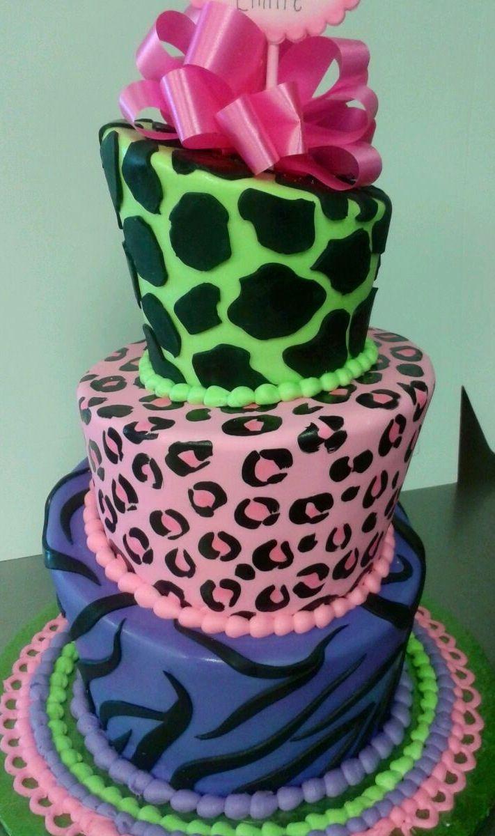Print Images On Cake : Animal print cake Children Birthday Cakes Pinterest