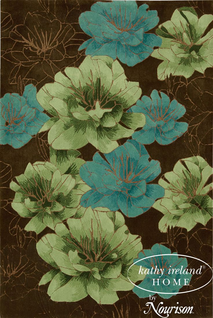 Joshua Blossom - Chocolate: The serenity and joy of nature blooms inside with this over-sized floral print in an ultra-pretty color palette of miraculous hues. .