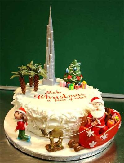 Christmas cake decorating ideas awesome cake decorating for Decoration ideas for christmas cake