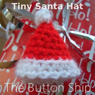 Ravelry: Crochet Santa Christmas Ornament Pattern pattern