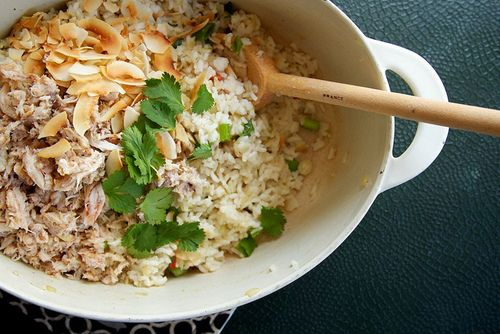 Coconut & Crab Rice | Beautiful pescatarian foodstuffs | Pinterest
